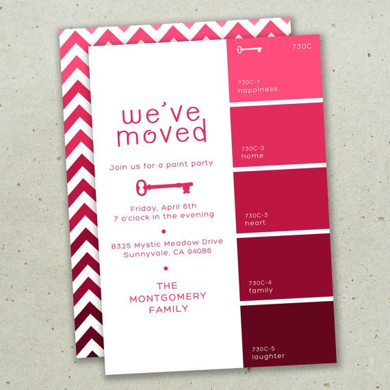 Moving Announcement  Paint Swatch  Digital DIY by olivebumble, $15.00: Idea, Printable Cards, Diy'S, Moving Announcements, Diy Printable, Color, Paint Swatches