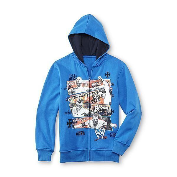 WWE John CENA Hoodie NeW Boy's 6/7 Zip-Up Blue Jacket CM Punk Rey Mysterio HHH #WWEWrestling #Hoodie #Everyday