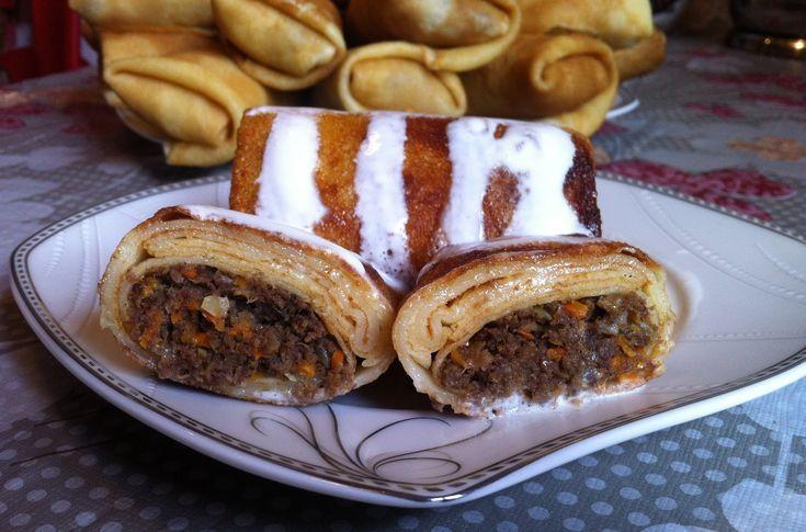 Блинчики с Птичьими Желудками / Pancakes With Liver / Простой Пошаговый Рецепт - YouTube