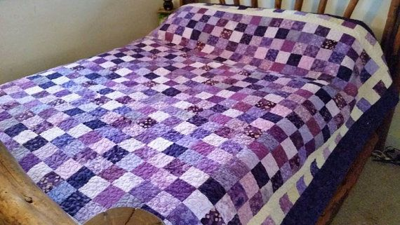 New Purple Quilt Patchwork Quilt beautiful by QuiltsByTaylorDesign