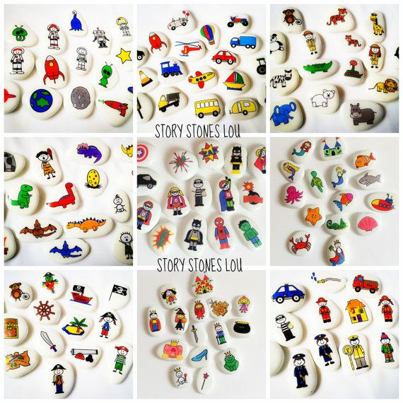 Why not jumble your story stone starter packs up by having a mixture of your favourite story stones altogether......  Pick 20 stones (but remember