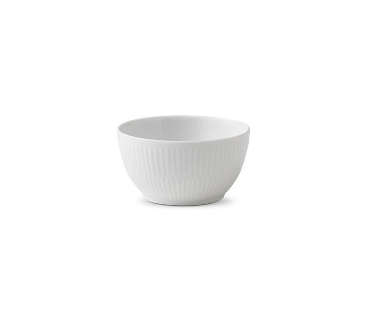 White Fluted Sugar bowl
