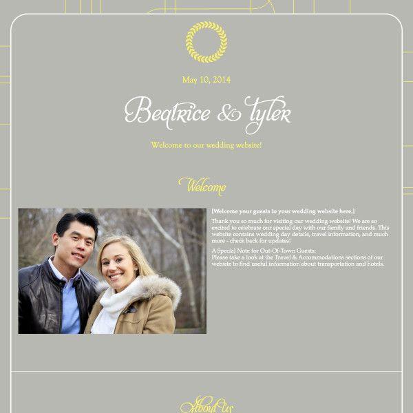 Modern Wedding Website Camryn By The American Websitedesign