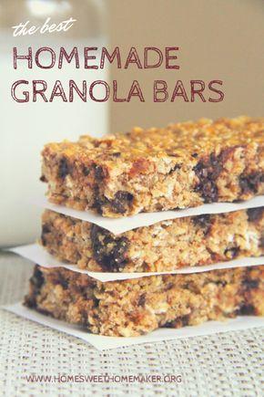 The best homemade, healthy granola bars - organic - treat - snack