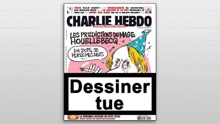 Dessiner tue. Les guignols de l'info. Charlie Hebdo.