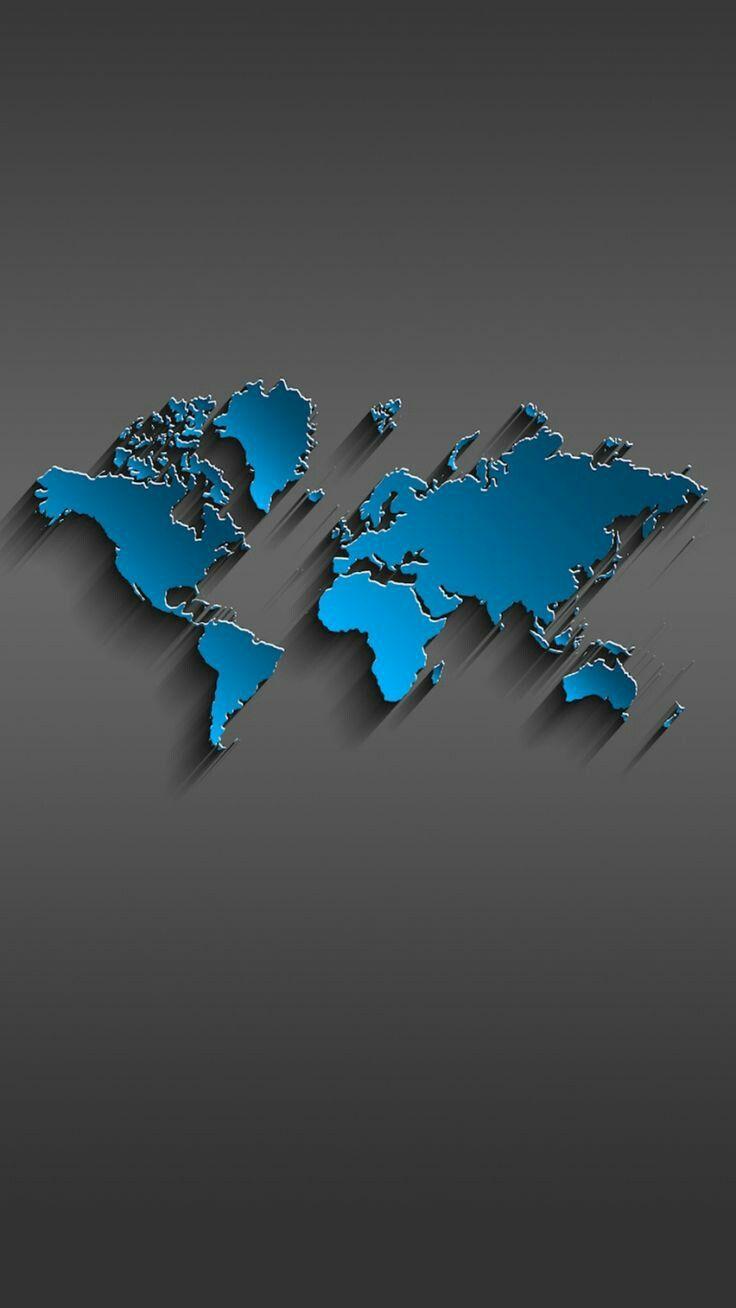 World Map Hd Wallpaper Smartphone Wallpaper Iphone Wallpaper World Map Wallpaper
