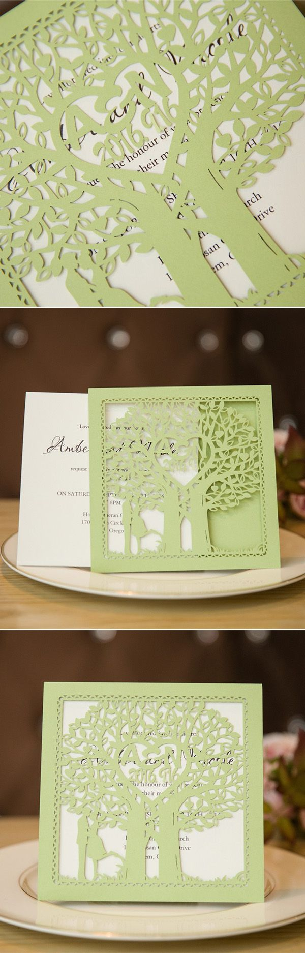418 Best Wedding Invitations Laser Cut Images On Pinterest Cake