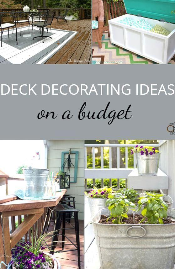 Deck Decorating Ideas On A Budget Rustic Crafts Chic Decor In 2020 Deck Decorating Ideas On A Budget Outdoor Decor Backyard Deck Decorating
