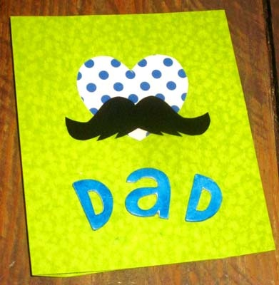 Une adorable carte pour papa!