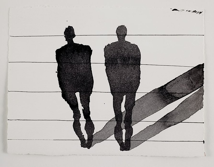 Self and not self 2, Anthony Gormley, drawing