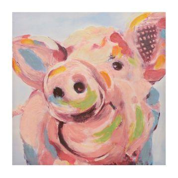 Wilford the Pig Canvas Art Print