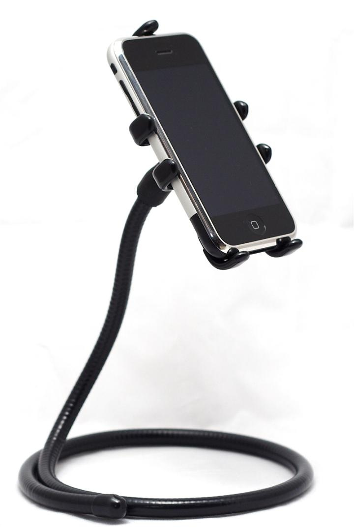 Naja King iPhone Stand: It's a flexible stand that holds your iPhone and iPod Touch in a vertical or horizontal way wherever you want.