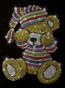 Sequin Art Teddy Craft Kit From KSG | Hobbies