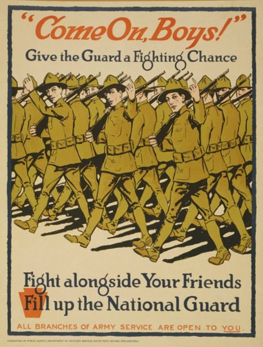 Draft Poster for Texas National Guard and other Guard Units