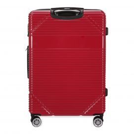 Give your loved one the gift of travel with this bright red gorgeous  hardcase luggage from Lucas. Find it at Bentley.