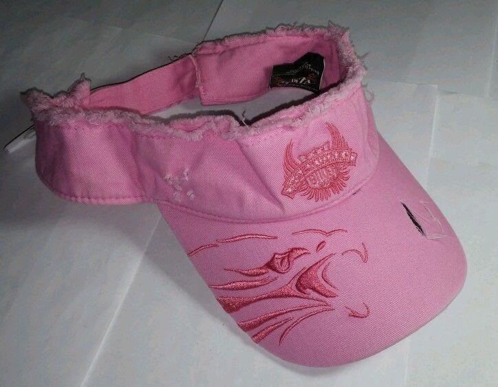 Ez Riderz Easy Riders Eagle Bird Biker Babe Embroidered Pink Cap Hat Visor