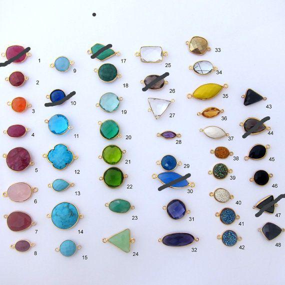 Gemstone Bangle Gemstone Jewelry Gemstone by FrostedWillow on Etsy