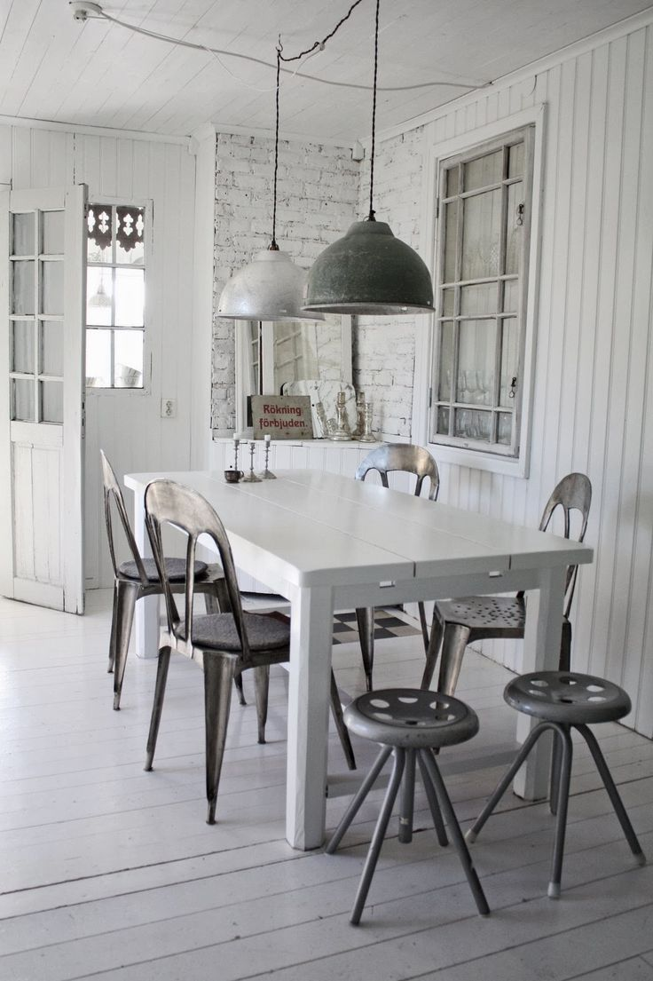 """VINTAGE. Aenne adds, """"i want the pendants for my kitchen bar and I like the industrial stools."""""""