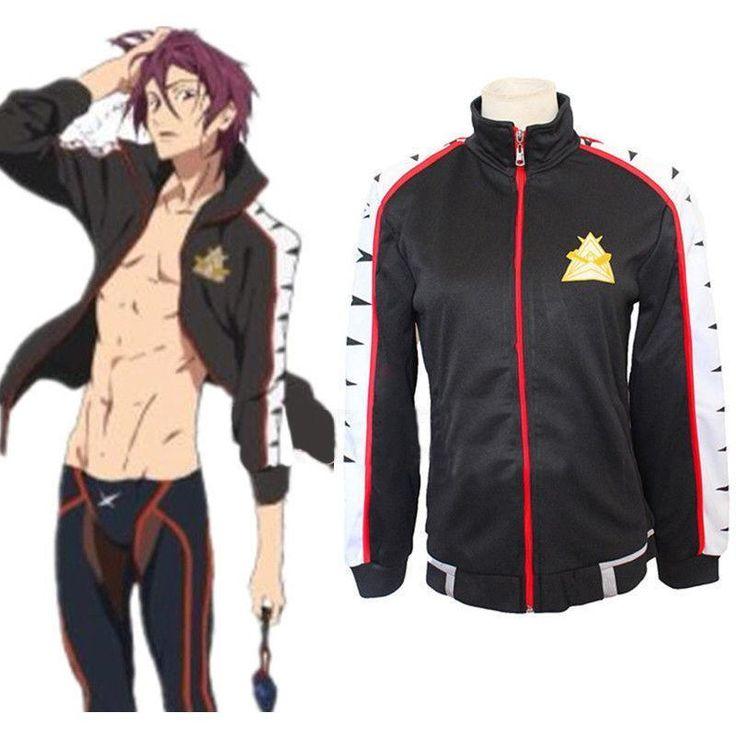 Free! Iwatobi Swim Club Rin Matsuoka School Sport Jacket/Coat Cosplay Costume! #fanmadegoods #JacketCoat