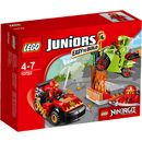 Lego Juniors: Ninjago Snake Showdown (10722) 10722 Lasha the snake villain wants the golden snake staff, so you have to help Kai battle him! Use Kai™s car and Ninja sword to fight the bad guy. Build and have fun with LEGO® Juniors NINJAGO! Features: I http://www.MightGet.com/january-2017-11/lego-juniors-ninjago-snake-showdown-10722-10722.asp