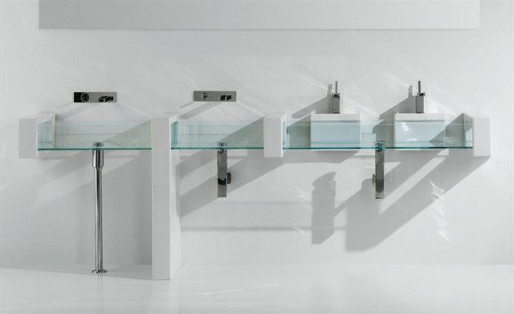 Wall hung washbasin Glass