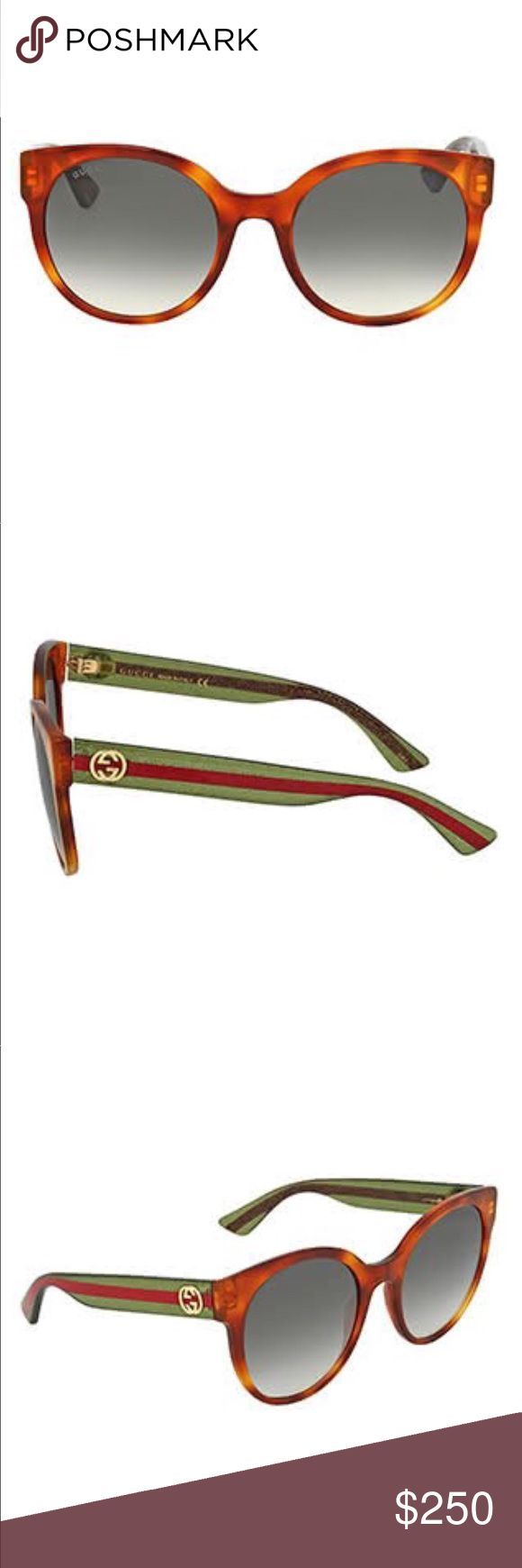 Gucci GG0035S 003 Women's Sunglasses Brown Havana Gucci GG0035S 003 Women's Sunglasses In Brown Havana  SKU:USA-GG_0035S_003 Quick overview:  • Gender: Women • Year: 2017 • Frame Color: Brown Havana • Lens Color: Green Gradient • Frame Shape: Oval • Frame Style: Full Rim • Frame Material: Acetate • Lens Material: Nylon Gucci Accessories Sunglasses