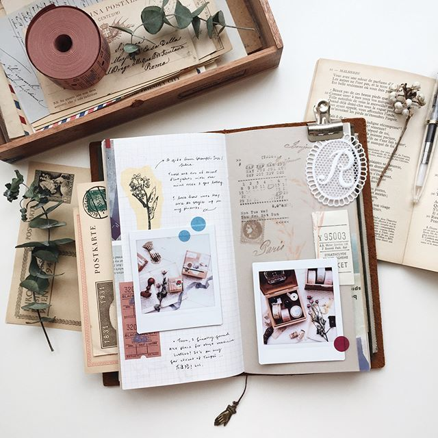 Just another simple spread.. happy Saturday! ✨ · · · #midori #midoritravelersnotebook #travelersnote #travelersnotebook #travelerscompany #travelersfactory #scrapbooking #journal #journaling #creativejournal #artjournal #rubberstamp #washi #washitape #stationery #stationeryholic #stationeryaddict #instax #instaxshare #文具 #文具控 #文房具 #手帳 #紙膠帶 #手帳好朋友 #印章 #vsco #vscoA6 #森活採集室 #古紙