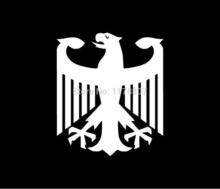 Немецкий Орел Наклейки Для Автомобилей Стеклоочиститель Грузовик ВНЕДОРОЖНИК Бампер Авто двери Для Ноутбука Kayak Каноэ Стены Искусства Высечки Этикеты Винила 8 цвета