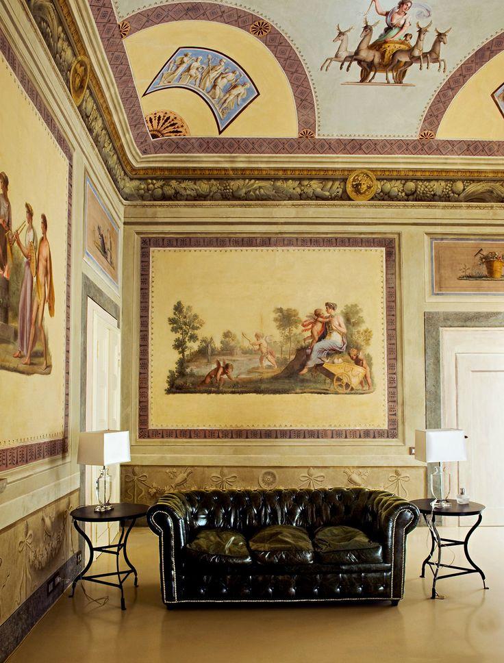 restored 18th century frescoes