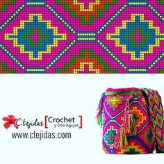 34f9af533705855ec77342a843fe04c9.jpg (480×480) Mochila wayuu pattern