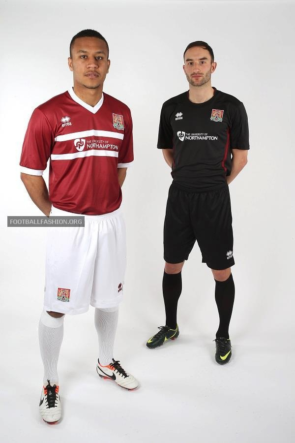 Northampton Town FC 2013/14 Errea Home and Away Kits