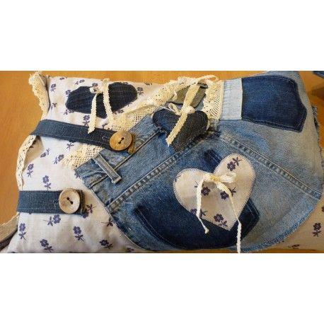 Polštář Jeans memory 40x60cm