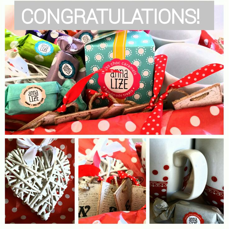 The winner of this gorgeous hamper is Shahmeen Galer! Congratulations! Enjoy all the special Anna-Lize's Swiss Choc Caramels goodies! www.anna-lize.co.za