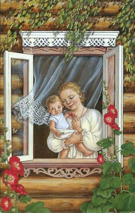 Russian windows by Lyudmila Romanova