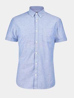 Short Sleeve Light Blue Oxford Shirt