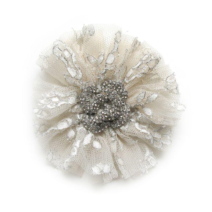 Swan Lake Flower Brooch by Amalia Karageorgou