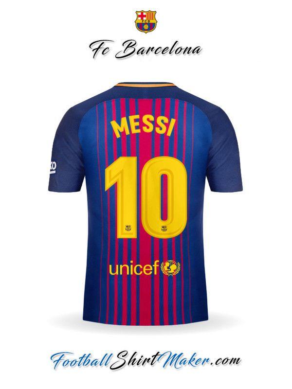Camiseta FC Barcelona 2017 2018 Messi 10  1ae0d4c33c6