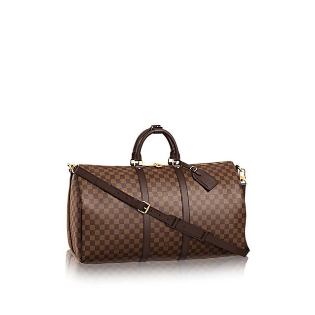 LOUISVUITTON.COM - Louis Vuitton Keepall Bandoulière 55 (LG) DAMIER EBENE Travel
