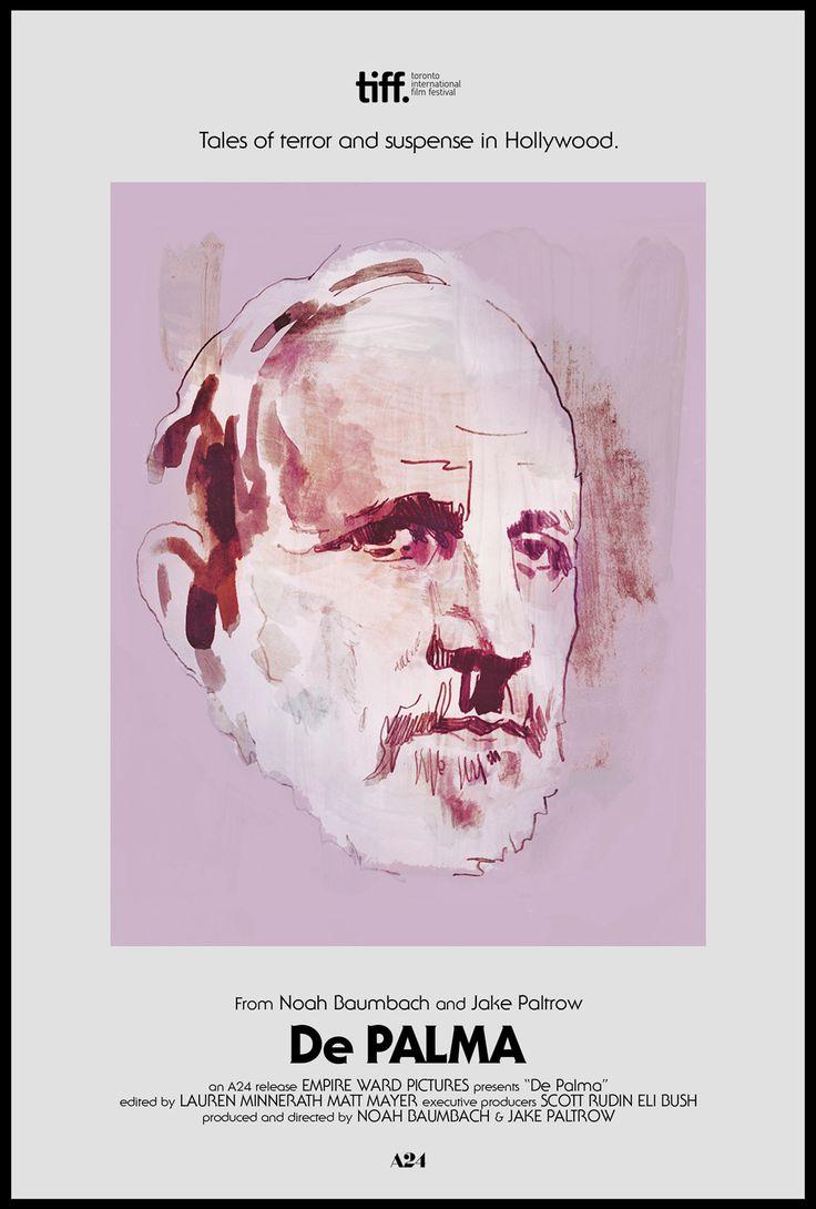 "midmarauder: "" Noah Baumbach & Jake Paltrow's ""De Palma"" Poster 2/2 by Tony Stella & MM """
