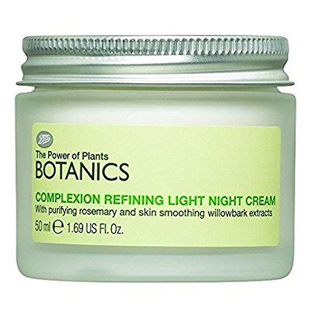 Boots Botanics Complexion Refining Light Night Cream 1.69 fl oz Review