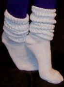 Slouch Socks - loved them. Used to wear two pairs of different colors layered on top of each other over leggings.