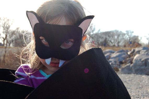 Handmade felt vampire bat costume, includes wings/mask, child                                                                                                                                                                                 More