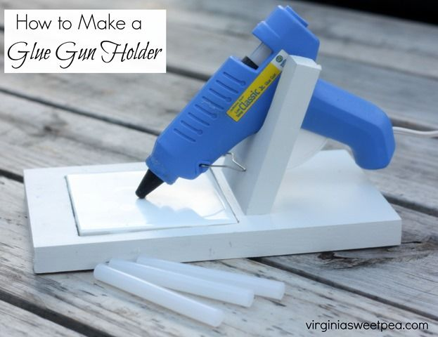 Learn how to make a glue gun holder. Get the step-by-step directions at…