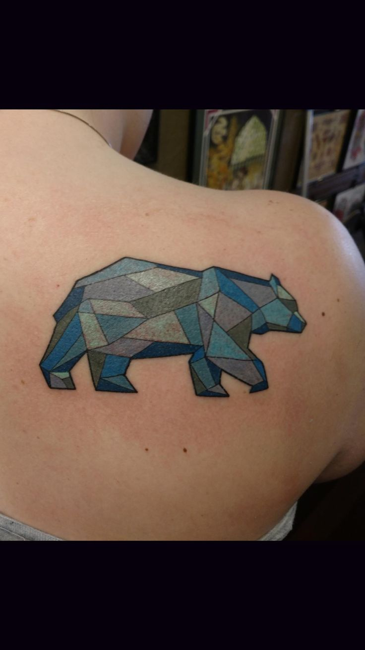 Tool box tattoo by mark old school tattoos by mark pinterest - Geometric Bear Done By Reese Farness At Ironworks Portsmouth Nh