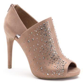 Jennifer Lopez Women's Rhinestone Peep-Toe Dress Heels