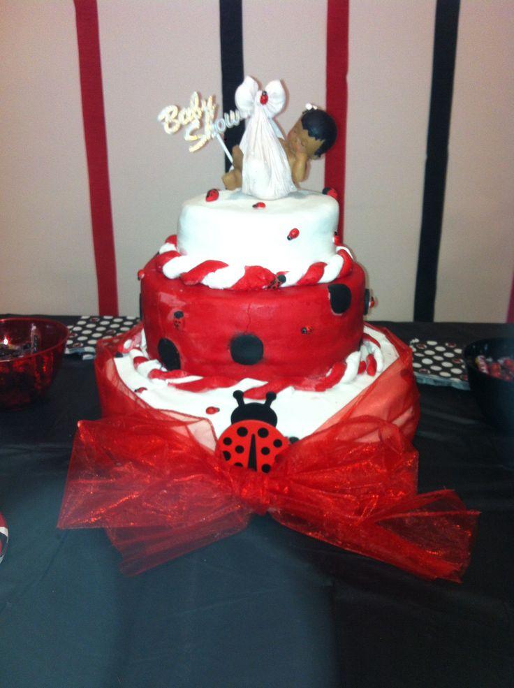 Lady Bug Theme Baby Shower Cake
