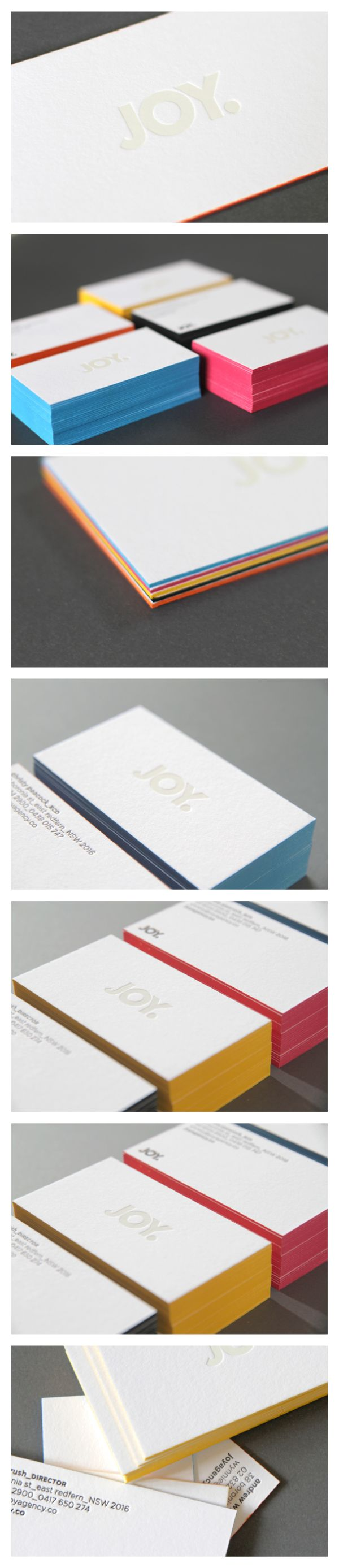 197 best business cards images on pinterest architecture blue joy business cards agencys rebrand it features a white foil stamping of the logo on magicingreecefo Gallery