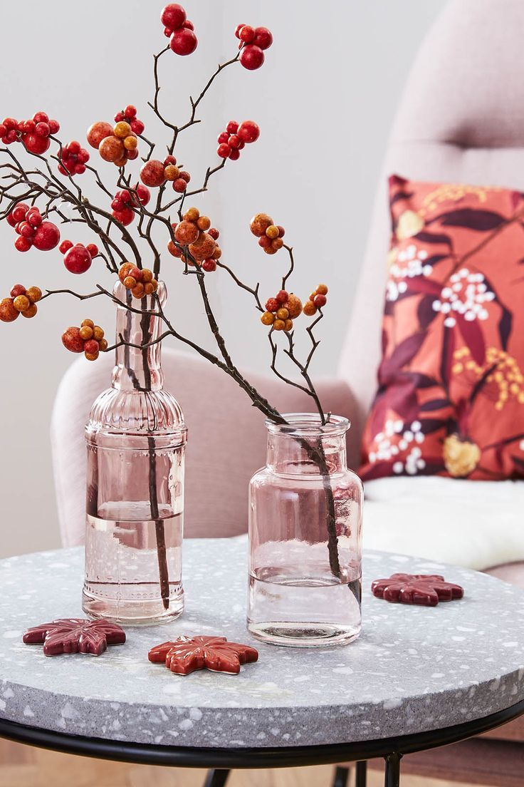 Schöne Herbstdekoration für den Tisch / Wohnzimm…