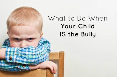 There is a lot of talk about how to cope with bullying, but parents also need to know what to do when their child is the bully.