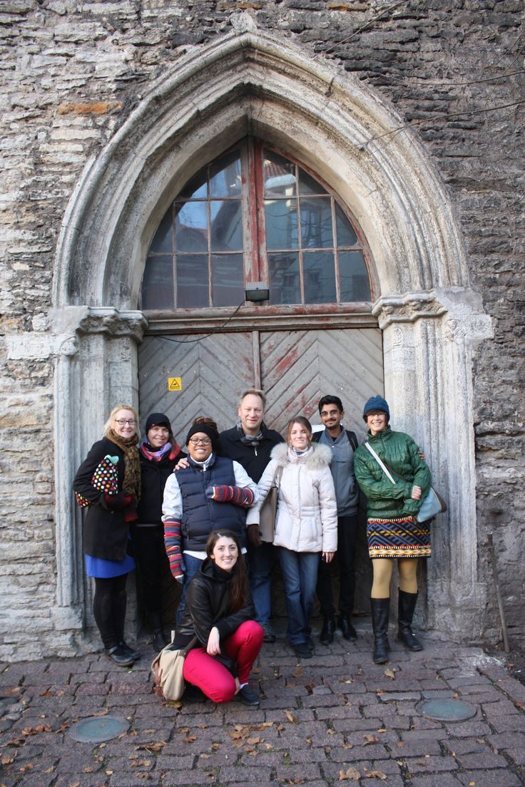 North American/Canadian Representatives in Tallinn, Estonia posing outside our exhibition space. (I'm in the bright pink pants out front). Our work is described in the following link: http://www.eksperimenta.net/triennial/eksperimenta-2014/concept/canadian-exhibition/